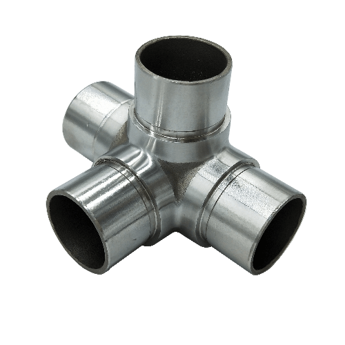 Stainless steel staircase railing pipe joint tube connector quick coupling adjustable joint Thumb 4