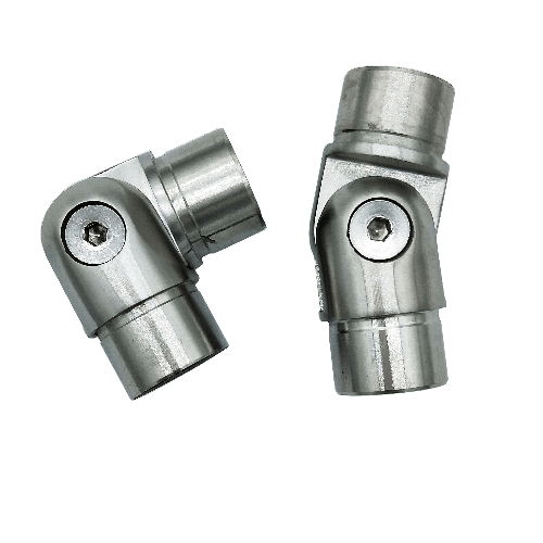 Stainless steel staircase railing pipe joint tube connector quick coupling adjustable joint Thumb 2